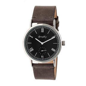 Simplify Mens Gray Strap Watch-Sim5104