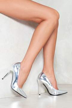 Nasty Gal nastygal Work Your Metallic Heel Pump