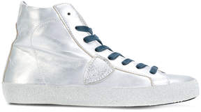 Philippe Model lateral patch metallic hi-tops