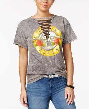 Bravado Juniors' Lace-Up Guns N' Roses Graphic T-Shirt