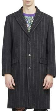 Palm Angels Pinstripe Ripped Coat