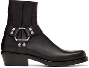 Balenciaga Black Harness Buckle Boots