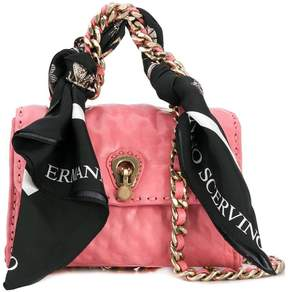 Ermanno Scervino mini scarf embellished bag
