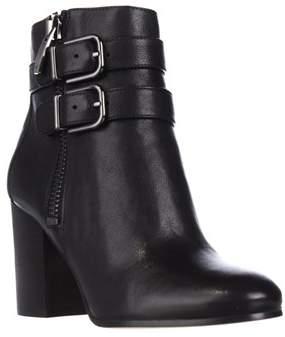 Via Spiga Briella Double Strap Buckle Ankle Boots, Black.