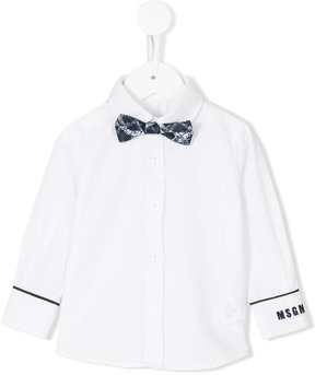 MSGM removable bow tie shirt