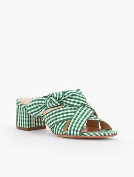 Talbots Georgia Knot Slide Sandals-Gingham