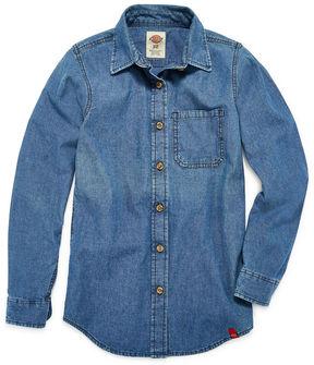 Dickies Girls Long Sleeve Chambray Shirt Girl's 7-16