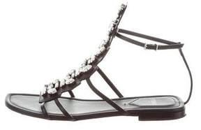 Fendi Embellished Ankle Strap Sandals