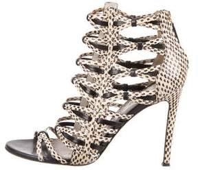 Jason Wu Snakeskin Caged Booties