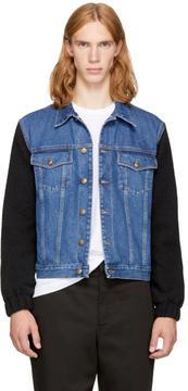 McQ Blue and Black Sophisticated Denim Jacket