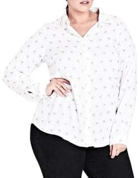 City Chic Plus Lovely Lady Printed Top