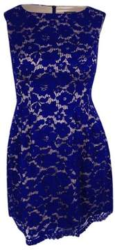 Vince Camuto Women's Lace A-Line Dress (12, Blue)