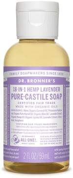 Dr. Bronner's Trial Size Lavender Liquid Soap by 2oz Liquid Soap)