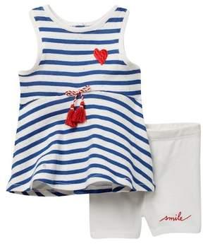 ED Ellen Degeneres Stripe Top & Short Set (Baby Girls)