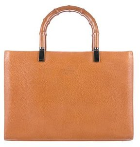 Gucci Bamboo Handle Tote - BROWN - STYLE