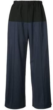 Dion Lee colourblock wide-leg trousers