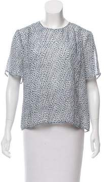 Band Of Outsiders Floral Printed Silk Top