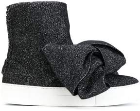 Joshua Sanders sparkly bow boots