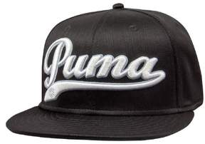Puma Script Cell Snapback Golf Cap (White/Blue, One Size) NEW