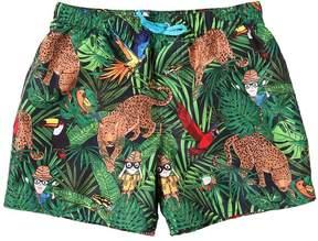 Dolce & Gabbana Savanna Nylon Swim Shorts