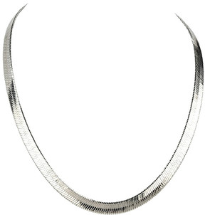 Bliss Silvertone Herringbone Necklace