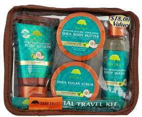 Tree Hut Essential Travel Kit Coconut Lime - 4pc