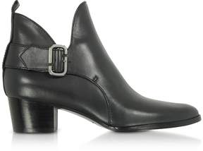 Marc Jacobs Black Leather Ginger Interlock Ankle Boots