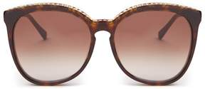 Stella McCartney Chain-embellished round-frame acetate sunglasses