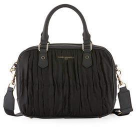 Karl Lagerfeld Paris Kourtney Pleated Nylon Satchel Bag