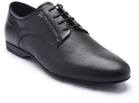 Versace Men's Leather Oxford Lace-up Dress Shoes Black.