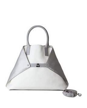 Akris Ai Medium Tricolor Leather Messenger Bag