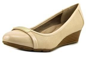 Giani Bernini Ambir Open Toe Synthetic Wedge Heel.