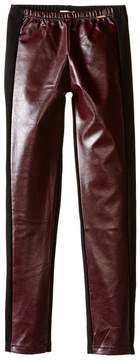 Junior Gaultier Black Faux Leather Leggings (Big Kids)