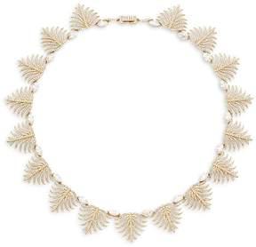 Adriana Orsini Women's Barbara Pavé Crystal Leaf Necklace