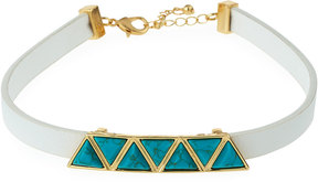 Fragments for Neiman Marcus Faux-Leather Station Choker w/ Simulated Turquoise