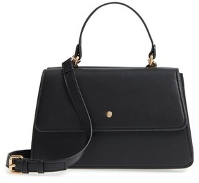 Sole Society Faux Leather Satchel - Black