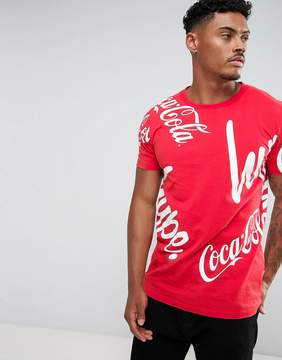 Hype x Coca Cola T-Shirt In Red With Logo Print