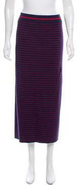 Tanya Taylor Striped Rib Knit Skirt