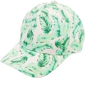 Charlotte Russe Palm Print Baseball Hat