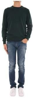 Trussardi Men's Green Cotton Sweater.
