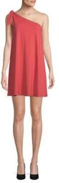 Susana Monaco Self-Tie One-Shoulder Mini Dress
