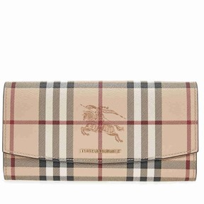 Burberry Haymarket Check Continental Wallet - Tan - ONE COLOR - STYLE