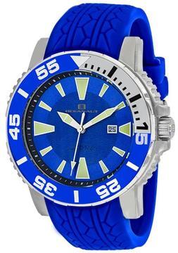 Oceanaut Marletta OC2918 Men's Round Blue Silicone Watch