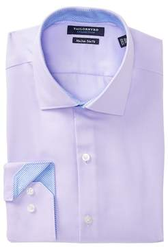 Tailorbyrd Textured Solid Trim Fit Dress Shirt