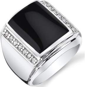 Ice Men's Genuine Black Onyx Sterling Silver Aston Fashion Ring