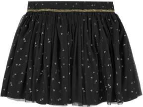 3 Pommes Printed tulle skirt