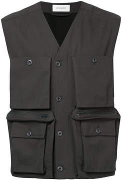 Lemaire sleeveless jacket with large pockets