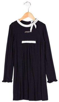 Armani Junior Girls' Long Sleeve Embellished Dress