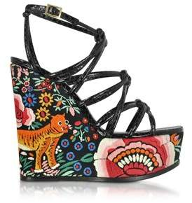 Roberto Cavalli Women's Multicolor Leather Wedges.