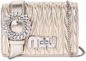 Miu Miu Med My Miu Buckle Metallic Leather Bag